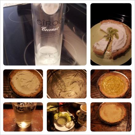 Coconut Lime Tart....and CIROC coconut yaaaas